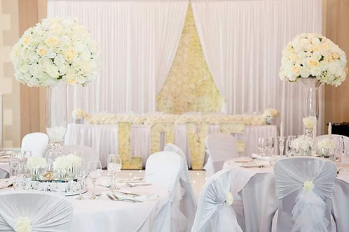 Backdrop with flower wall insert