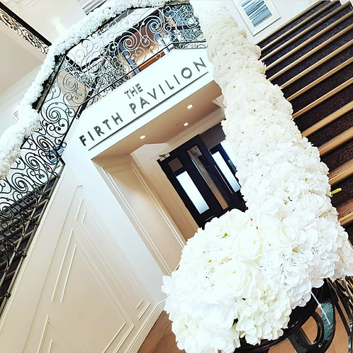 White Floral staircase