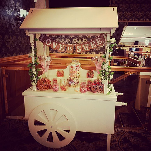 Unfilled candy cart