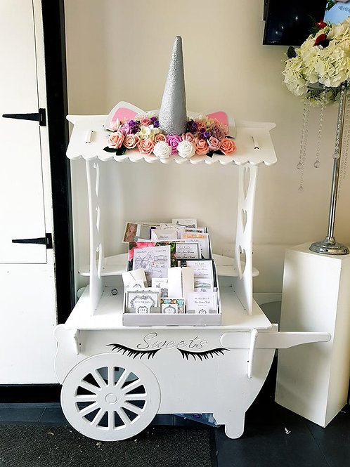Small unicorn candy cart unfilled