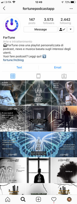 Post pagina Instagram