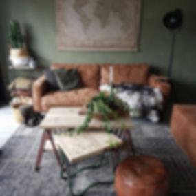 arredamento etnico green vitage pelle retro interior design
