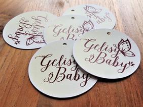 Etichette personalizzate per negozio di abbiagliamento da bambino