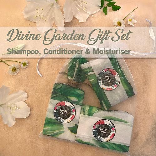 DIVINE Garden 3 Piece Gift Set - Jasmine, Lemon, Gardenia & Rose