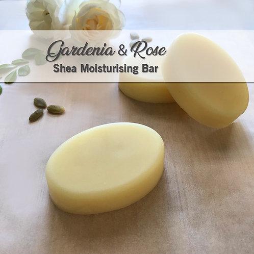 Gardenia Rose Moisturiser Bar Organic Coconut Oil, Shea & Mango Butter