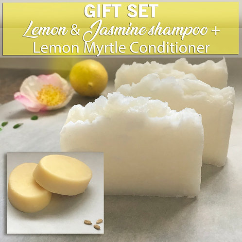 LEMON GIFT SET Organic Shampoo & Conditioner Bar