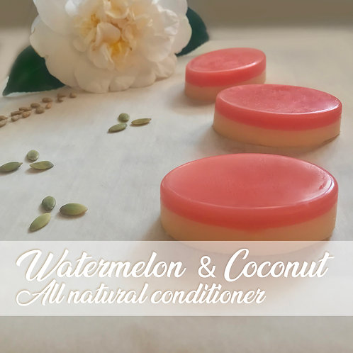 Watermelon & Coconut Conditioner Bar with Shea Butter and Jojoba oil