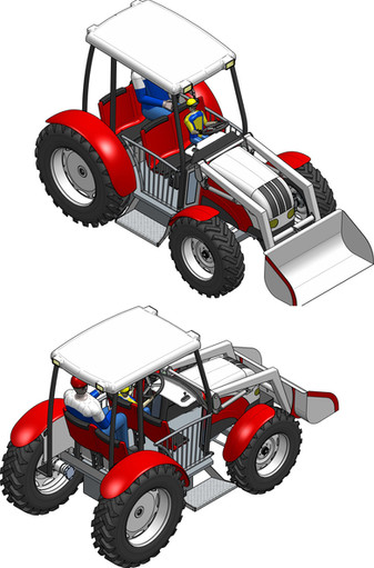 Render Tractor With Front Shovel