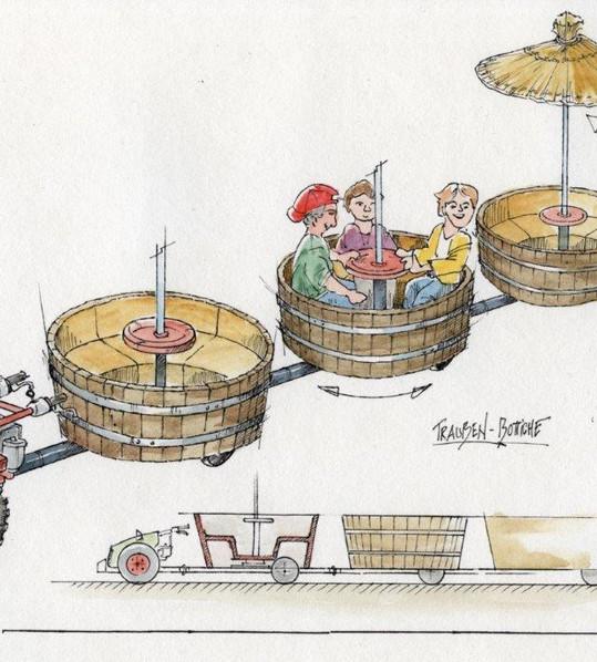 Farm Ride AGV Interactive Rotating Barrels Concept