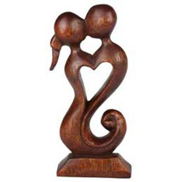 Lovers Wood Carving
