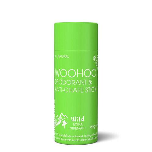 Woohoo All Natural Deodorant & Anti-Chafe Stick - Eco Tube - Wild - 60g