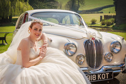 Bride and car