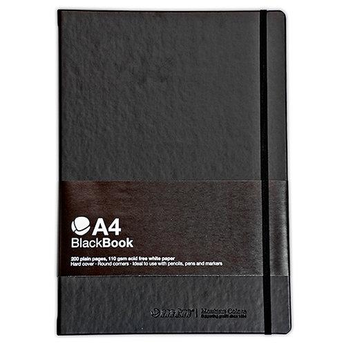 A4 BlackBook 200 páginas de 110 g. 210x297 mm