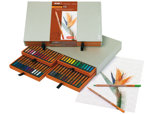 caja de lapices de color de 48 colores bruynzeel