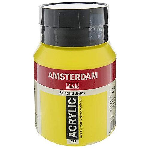 Bote de pintura acrílica 500ml amsterdam amarillo primario