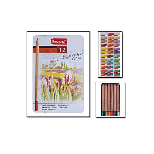 caja de lápices de 12 colores expressión