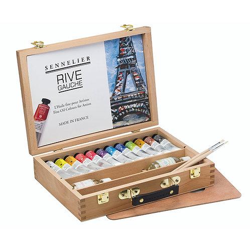 Caja de óleos  finos Sennelier para artistas