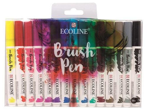 Pack de 15 Ecoline Brush Pen