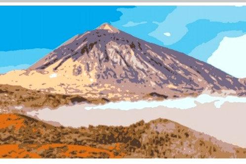Lienzo numerado para colorear Teide