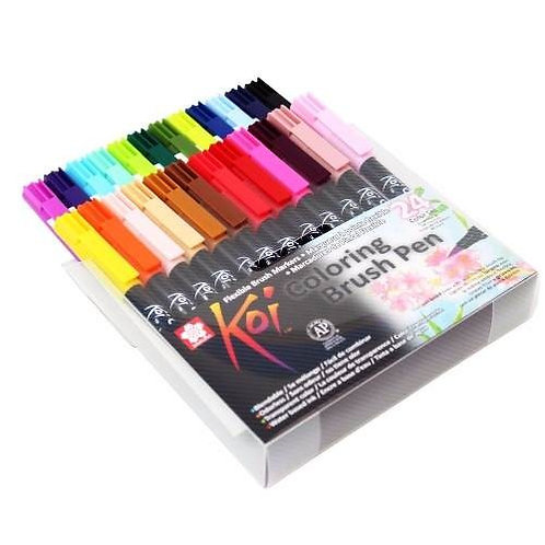 Rotuladores koi Bush Pen 24 colores