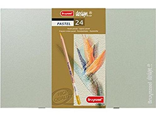 Caja de lápices de pastel de 24 colores bruynzeel