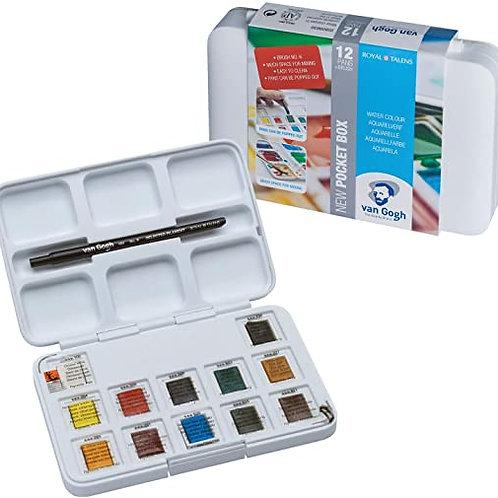 Caja acuarelas Van Gogh 12 pastillas