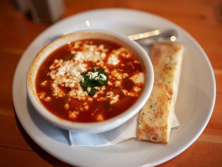 Chèvre+Albahaca eleva la sopa de tomate