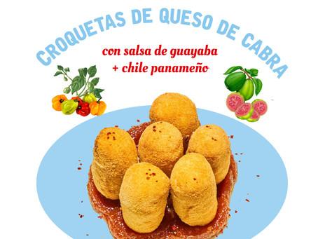 Croquetas de queso chèvre + Salsita de guayaba y chile panameño