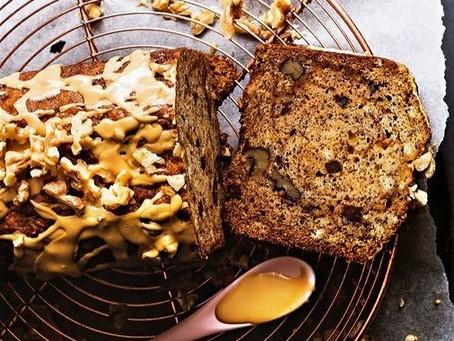 Pan de banano con Dulce de Leche de Cabra y natilla