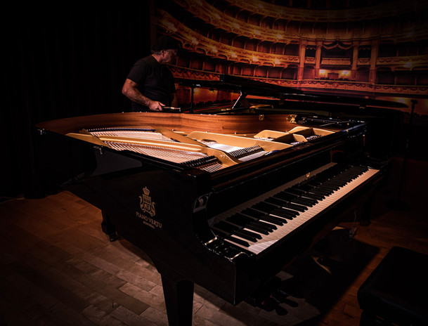 Many thanks to our technician, Gerald Jeanson, for preparing the pianos before the Off Jazz Benefit Concert!