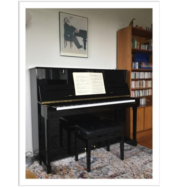 "W.Hoffmann T122...""The piano is very happy in its new home – and I am beyond happy!!"" - Patricia"