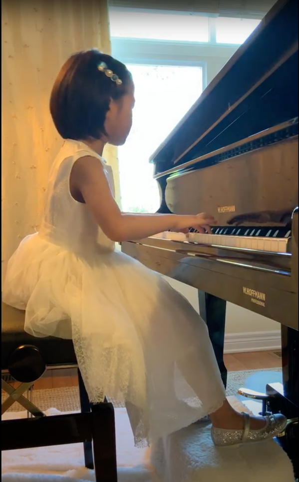 5 years old, Adelaide Lee playing on a W.Hoffmann Professional 188. She is a pro!