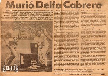 Murió Delfo Cabrera