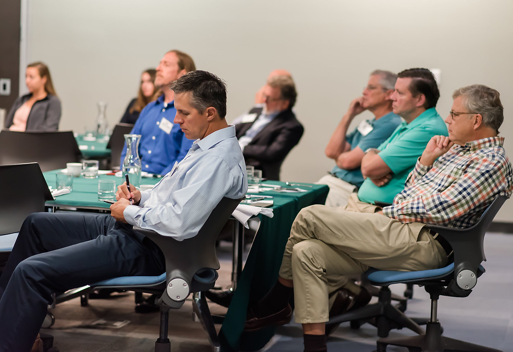 Members listen to keynote seaker Dr. Thomas Epperson, president of  Innerwill Leadership Institute at our fall breakfast seminar.