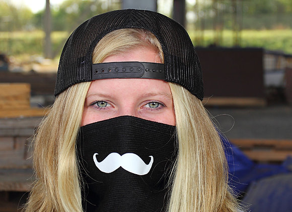 Mustache Fleece Bandana