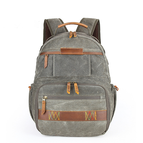 Waterloo Waxed Canvas Camera Backpack
