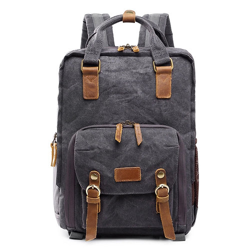 Wittering Waterproof Waxed Canvas Camera Backpack