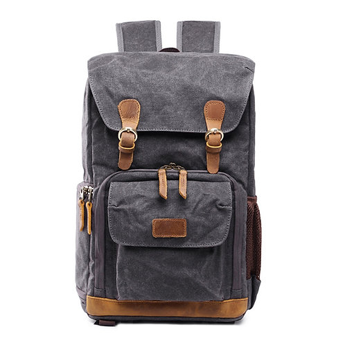 Wycombe Waterproof Waxed Canvas Camera Backpack