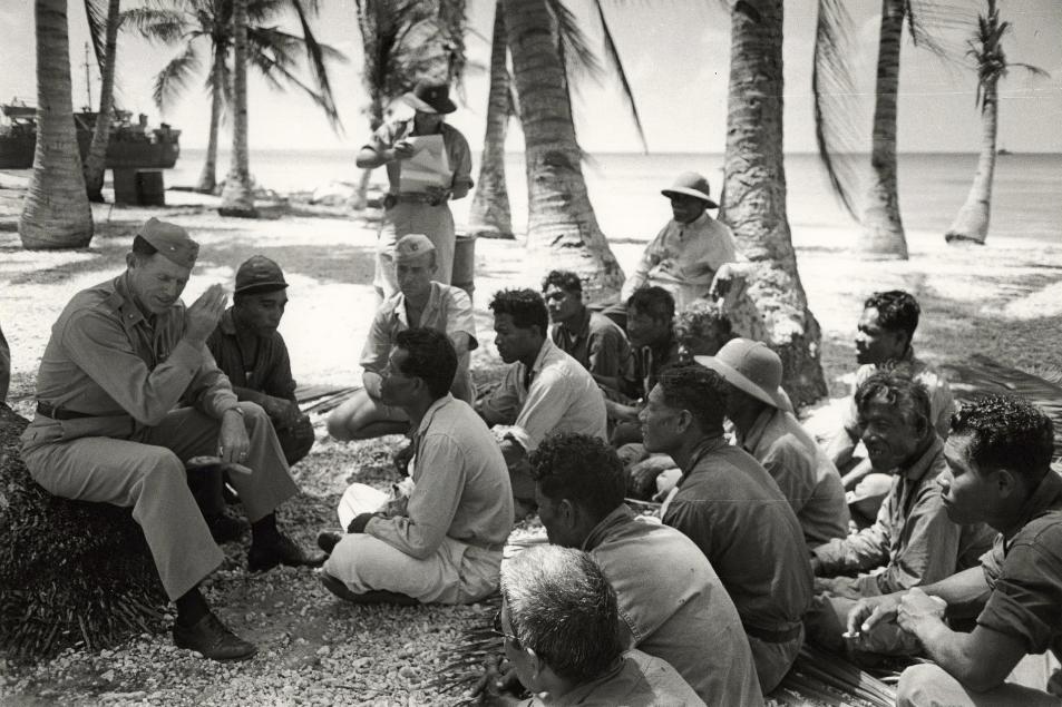 U.S. Military's meeting Bikinians