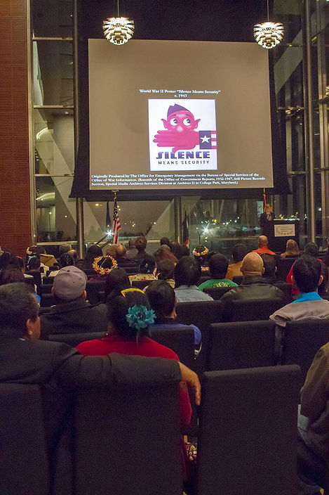 Jessica A. Schwartz speaks during Nuclear Remembrance Day in Little Rock, Arkansas, in 2014. (MEI Photo)
