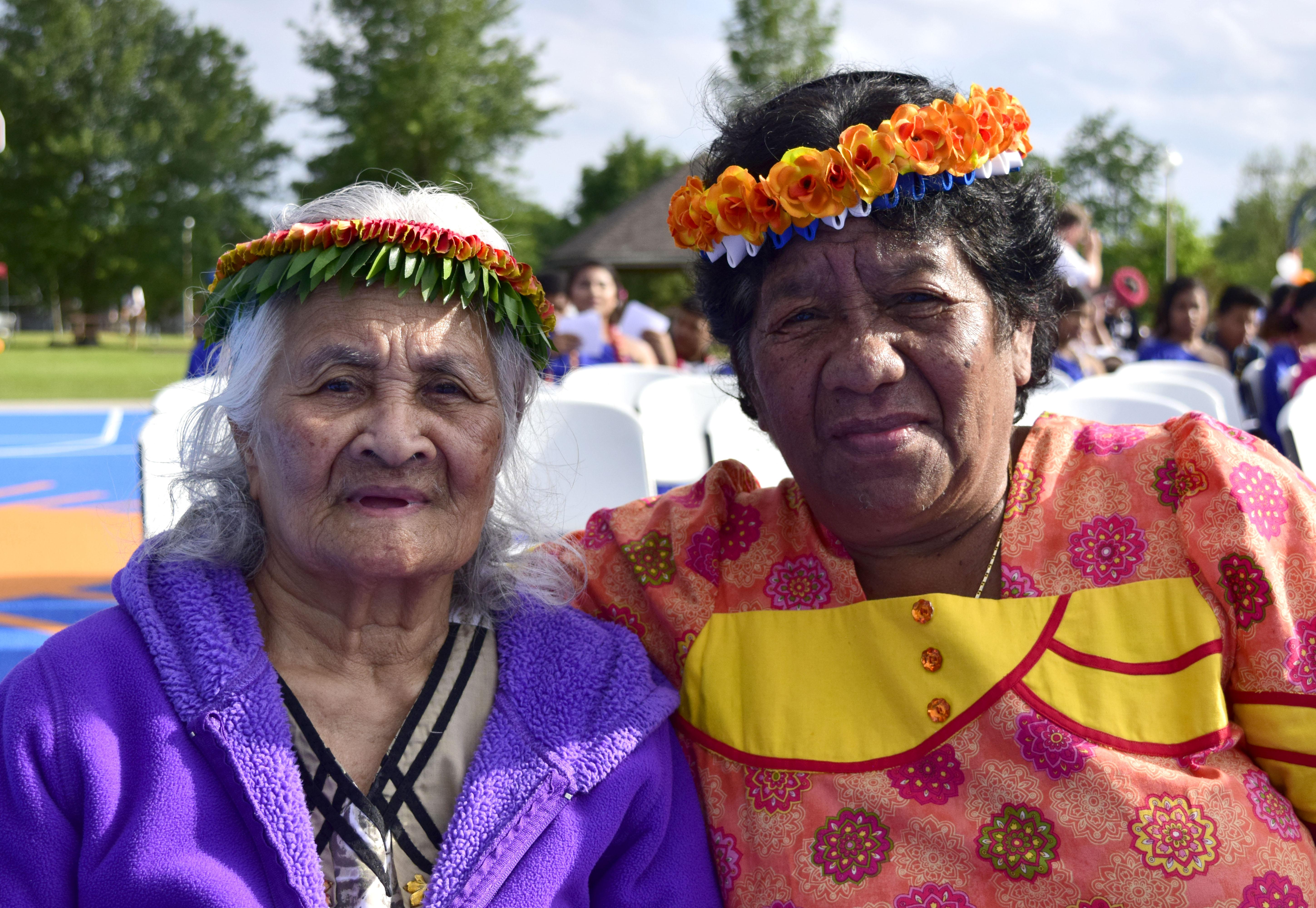 Shaine Benkim, right, Jaluit Atoll