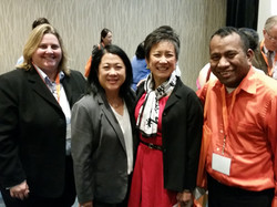 April and Albious at AAAJ Conference