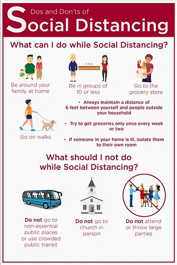 Social Distancing Engl