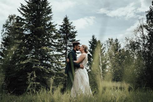 Jeremy + Brittni : Whitecourt, Alberta Intimate Wedding 2021