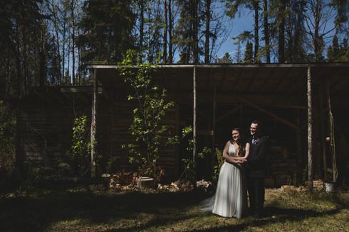 Adam + Kerry : Barrhead, Alberta Intimate Wedding 2021