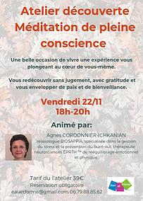meditation pleine conscience 22 novembre