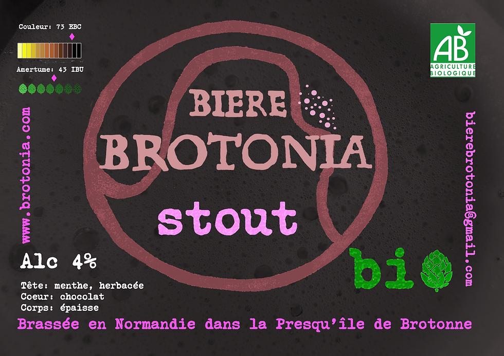 Nouveau présentoir Brotonia bière Stout.