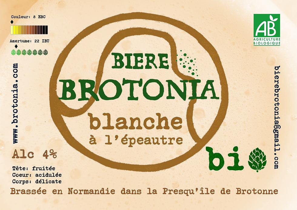 Nouveau présentoir Brotonia bière blanch