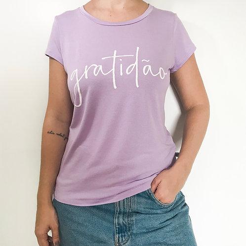 T-shirt Gratidão Lavanda
