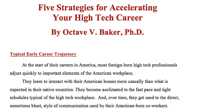 Five Strategies for Accelerating Your High Tech Career